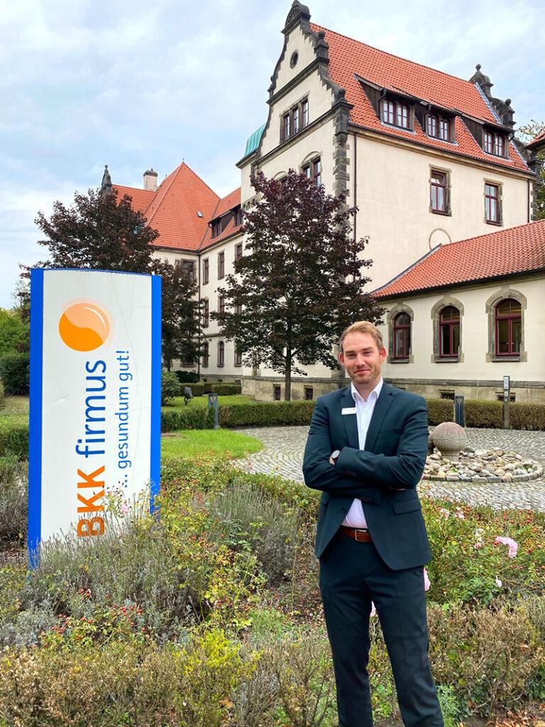 Patrick Schücker arbeitet als Abteilungsleiter bei der BKK firmus in Osnabrück mit Sitz am Gertrudenberg. Hier ist das Osnabrücker Servicezentrum der BKK firmus seit 2003 zuhause.