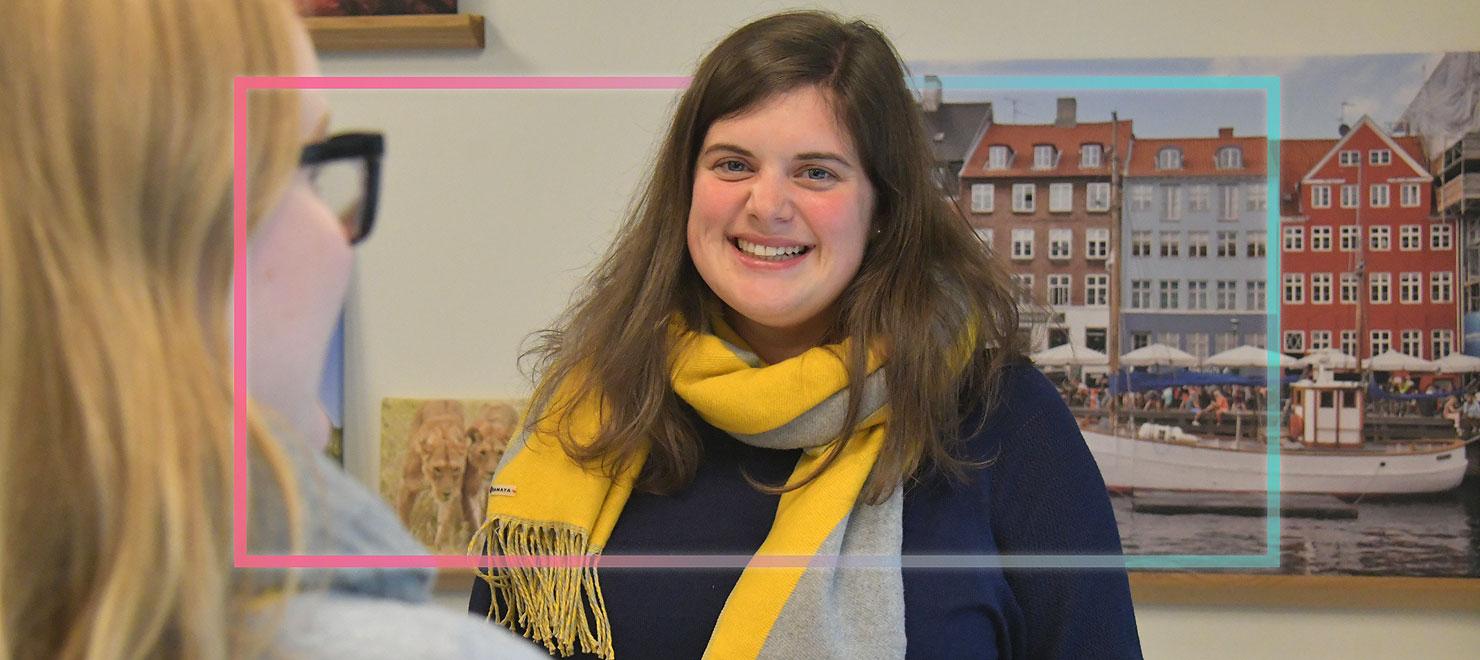 Linda Heuer fühlt sich seit fünf Jahren im Planungsbüro Hahm rundum wohl.