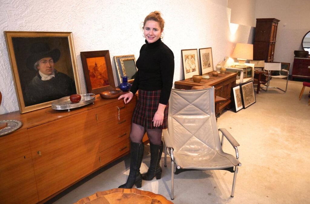 Phoebe Rohn kombiniert Neues und Altes in ihrem Pop-up Store in der Lotter Straße.