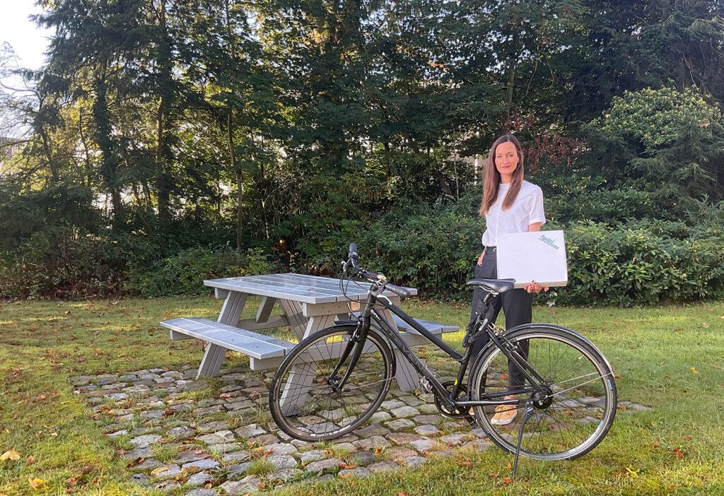 Anders als in anderen Großstädten lässt sich in Osnabrück vieles mit dem Fahrrad erledigen. Das weiß auch Maren Weitner zu schätzen, die aus Köln nach Osnabrück zurückkehrte.